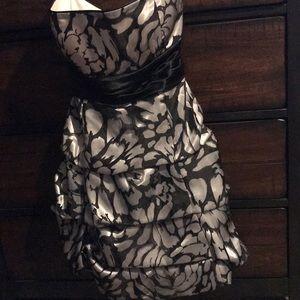 Black & grey back tie dress. Worn once. DB Studio.